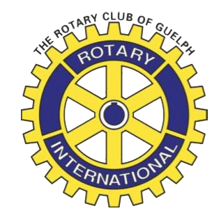 rotary club guelph wheel logo